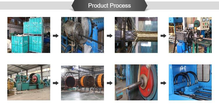 SAE100R4 hydraulic hose produce